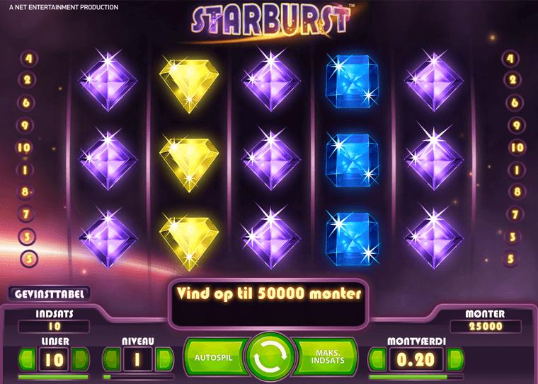 Starburst: Få 170 free spins til spilleautomaten + 5 hver fredag