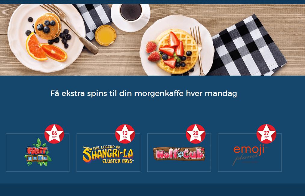 Få ekstra spillerunder hver eneste uge hos Casino.dk
