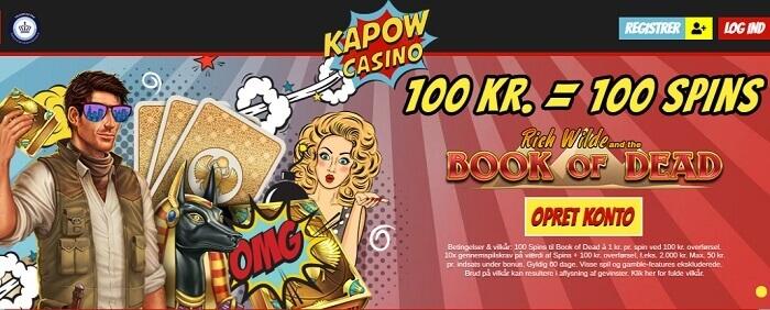 Kapow Casino Bonus