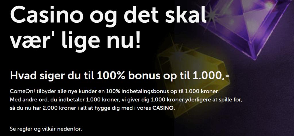 ComeOn Casino Bonus