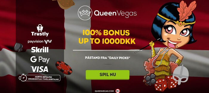 Queen Vegas velkomstbonus