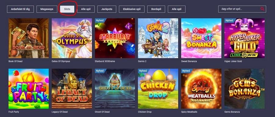 Maria Casino spilleautomater